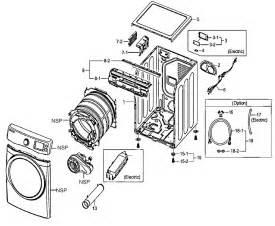 Samsung Clothes Dryer Parts Samsung Residential Dryer Parts Model Dv520aewxaa