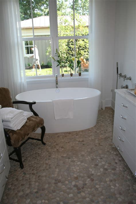 pebble bathroom floor island stone pebble bathroom floor modern bathroom