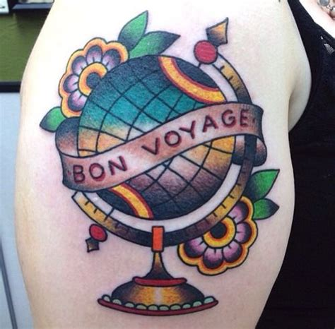 traditional globe tattoo 10 best images about traditional globe travel on