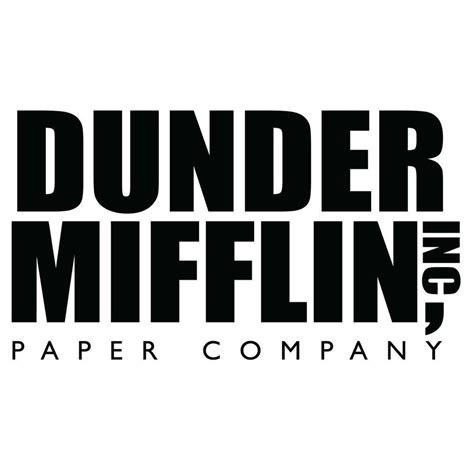 Dunder Mifflin the office dunder mifflin logo vinyl decal sticker
