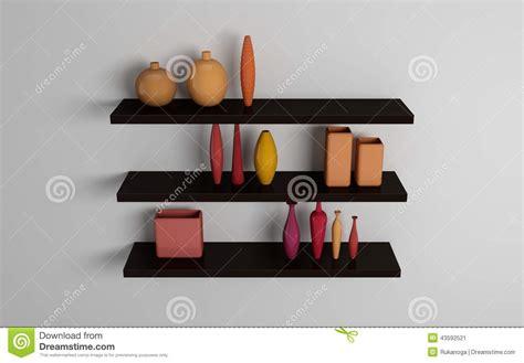 scaffali moderni mensole moderne illustrazione di stock immagine 43592521