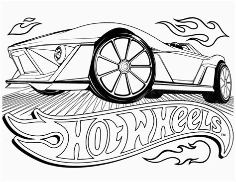 hot wheel coloring pages to download and print for free