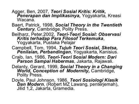 Kritik Ideologu By F Budi Hardiman teory teory ilmu sosial