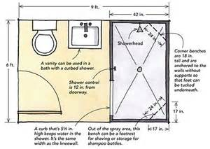 Small Bathroom Layout With Shower Only by 6 X9 Bath Layout Home Inspiration Pinterest Large