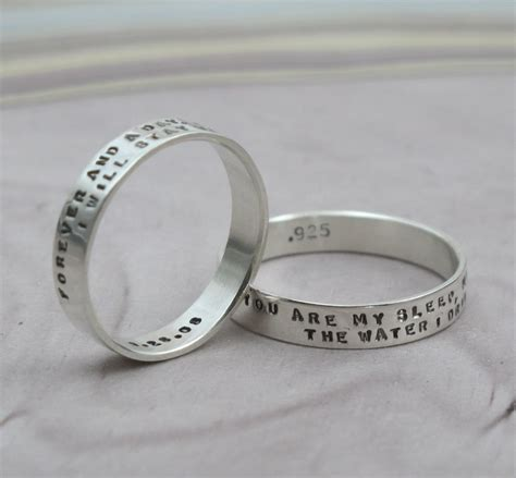 custom message ring with 2 lines of text kathrynriechert