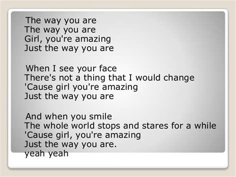 lirik lagu just the way you are bruno mars lyrics lirik lagu just the way you are