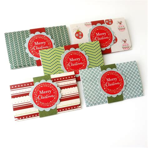 Holiday Gift Cards - christmas holiday gift card or money holders set of 5