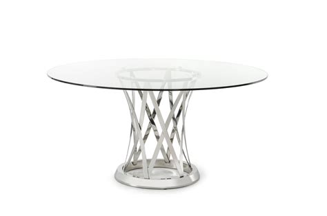 glass modern dining table modrest gallo modern glass dining table