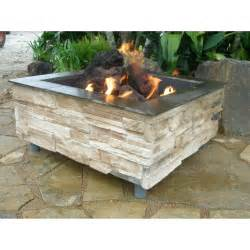 gas patio pit firescapes mountain ledge square gas pit