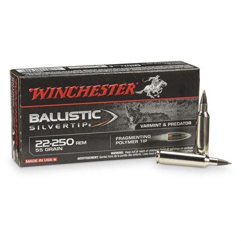 winchester supreme winchester supreme ballistic silvertip 22 250 remington