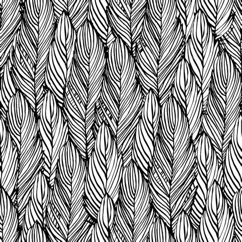 Muster Zeichnen Gliederung Feder Nahtlose Muster Stockvektor 169 Korinoxe 52633097
