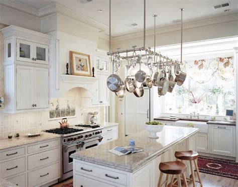 kitchen island hanging pot racks creative ways to use hanging storage in your kitchen
