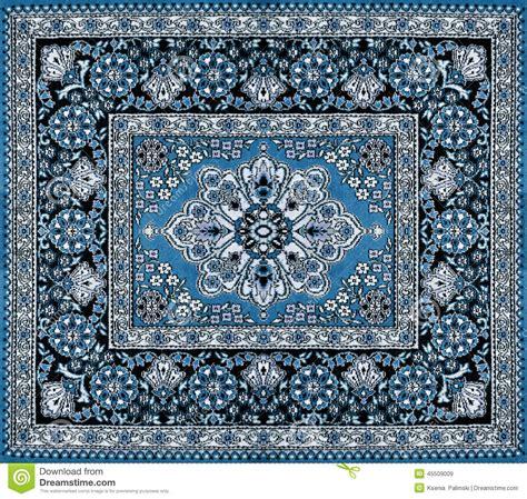 alfombra in arabic dark blue persian carpet stock image image of home
