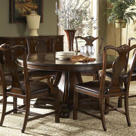traditional dining table traditional dining table with inlay by