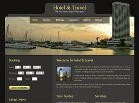 template of hotel website free hotels website templates 39 free css