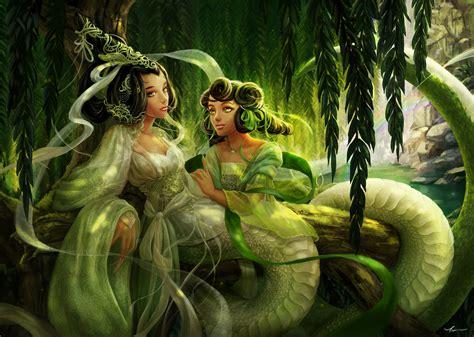 chinese film white snake white snake and green snake by yangtianli on deviantart