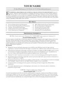 accounts payable resume sle student resume template
