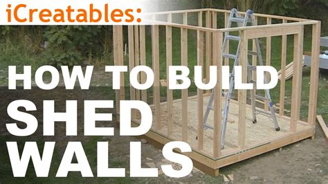 build  shed part  wall framing youtube