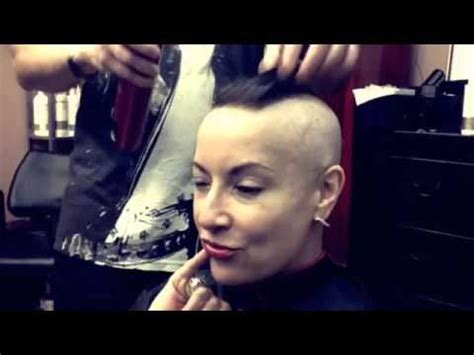 christy mack shaved head embrace the mohawk chemo glam youtube