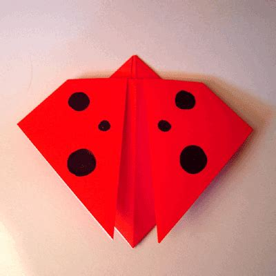 How To Make Paper Ladybugs - qxlxp paper scissors pencil origami ladybug