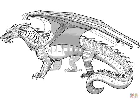 seawing dragon coloring page how to draw a wings of fire dragon thekindproject