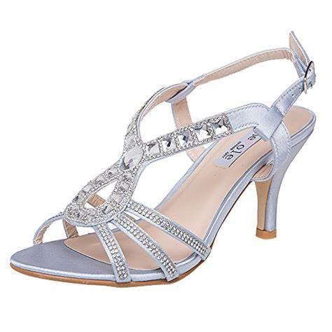 High Heels Import Gea49177bk shesole womens rhinestone dress sandal high heels wedding import it all