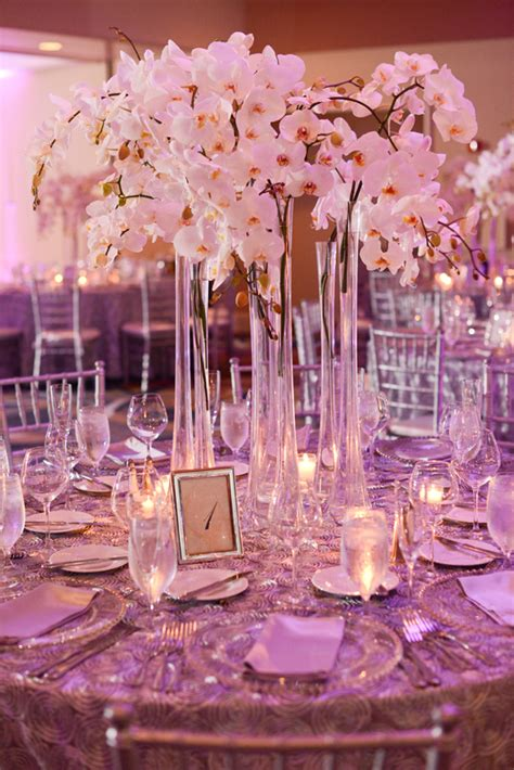 tall white orchid centerpiece orchid centerpieces tall