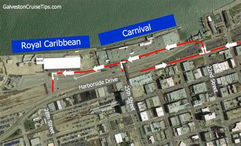 Car Rental In Galveston Port by Dropping Picking Up Passengers From The Galveston