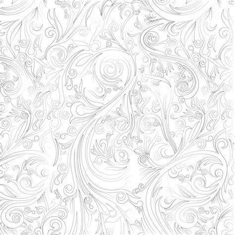 batik ornament wallpaper batik abstract swirl on white shape from yogyakarta stock