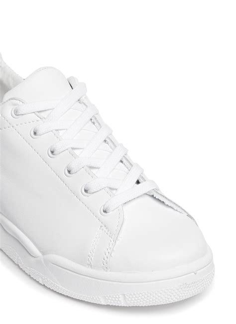 chiara ferragni glitter sneakers chiara ferragni roger glitter collar leather sneakers in