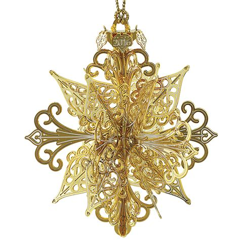 snowflake ornament 2016 chemart ornaments solid brass