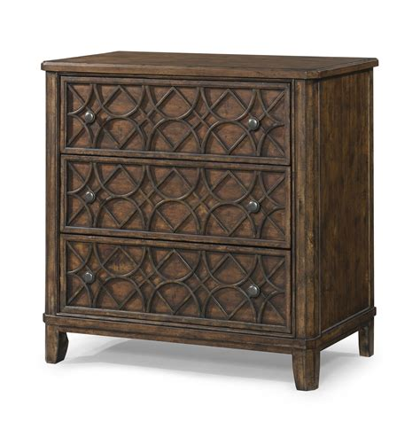 accent tables and chests klaussner trisha yearwood home gwendolyn 3 drawer accent