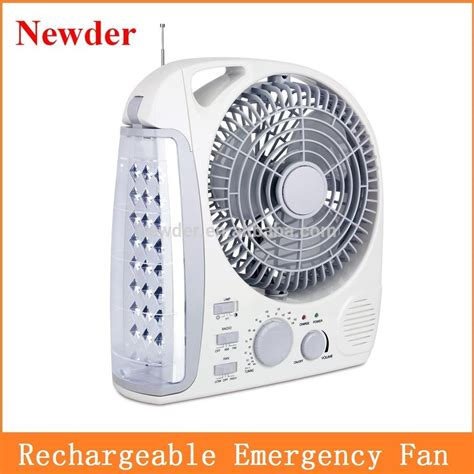led rechargeable emergency light 8 quot emergency led light with fan led rechargeable fan model