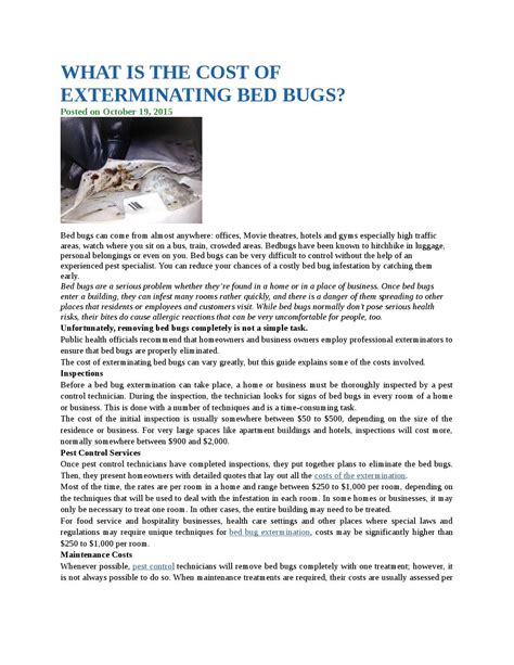 cost of bed bug extermination cost of bed bug extermination how much does heat treatment