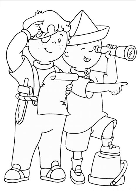 Coloring Ws Coloring Pages caillou coloring pages birthday printable