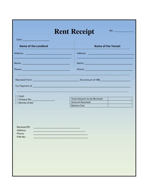 rent receipt template word 28 images doc 585380 rent