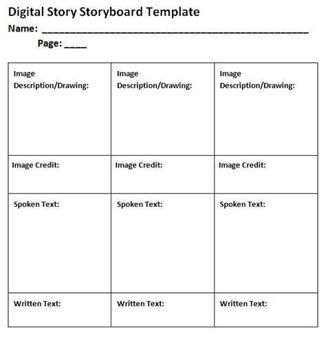 40 professional storyboard templates exles free