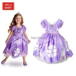 Fantasia Anak Sofia The Set 3 Pieces free shipping princess sofia dress children costume dress vestido princesa