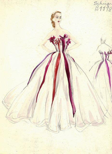 fashion illustration elsa elsa schiaparelli gown fashion illustration strapless