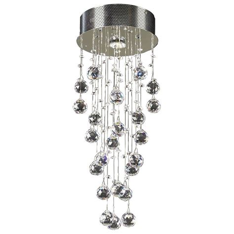 Clear Glass Flush Mount Ceiling Light Plc Lighting 1 Light Polished Chrome Ceiling Semi Flush Mount Light With Clear Glass Cli