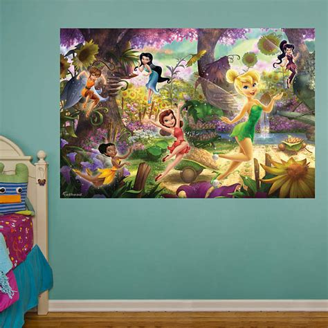 tinkerbell wall murals disney fairies mural wall decal shop fathead 174 for disney fairies decor