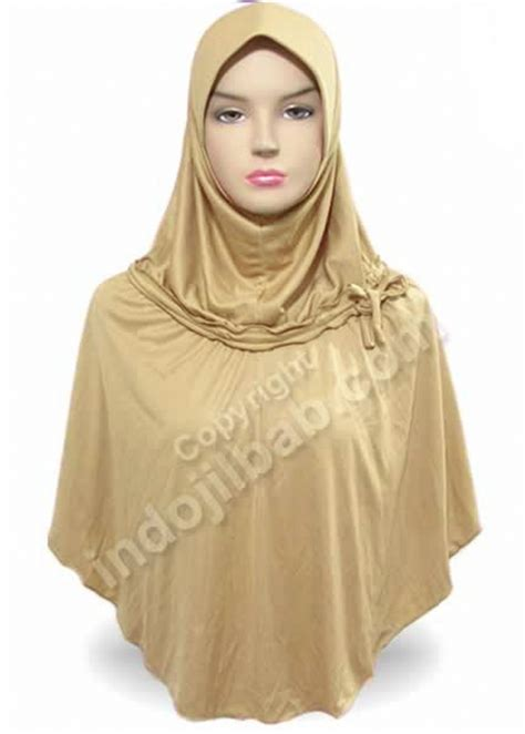 Jilbab Serut Lycra jual zahrah w serut coklat 003 harga dan review