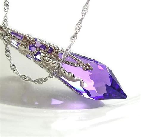 Amethyst Cairo Wire Jewelry Kalung purple necklace sterling silver amethyst necklace