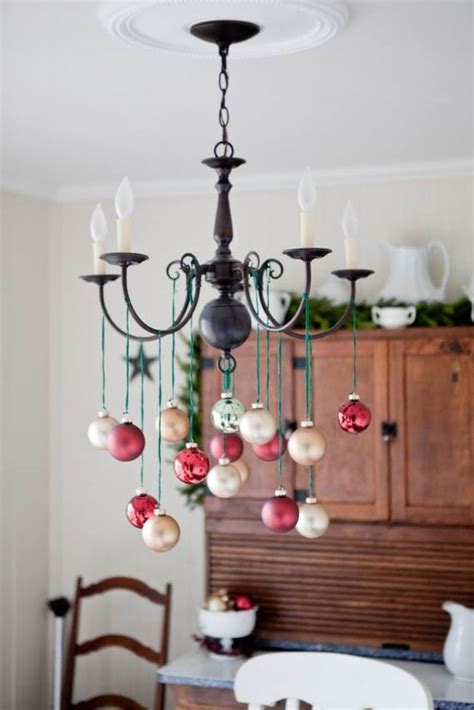 45 Christmas Decorating Ideas For Pendant Lights And How To Decorate A Chandelier