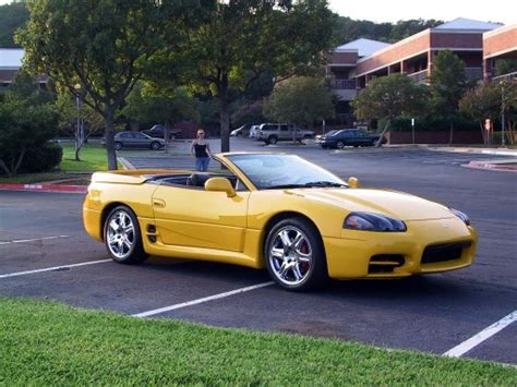 mitsubishi 3000gt yellow custom yellow 3000gt spyder with