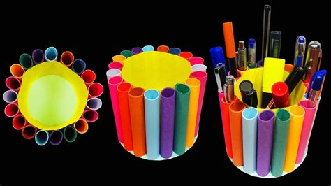 Pencil Stand Craft by How To Make A Paper Pencil Holder Pen Stand Hd Youtube
