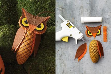 Tippytoe Crafts Pine Cone Snowy Owls - pinecone owl treat box use triangle on snowy pinecone owl