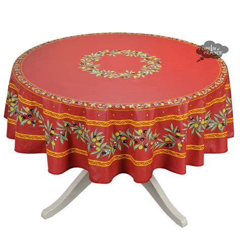 Tissu Napkin Eropa Motif Er035 70 quot ramatuelle coated cotton tablecloth by tissus toselli i of