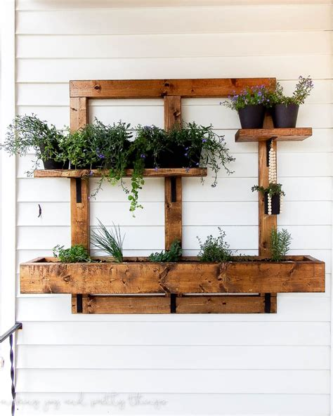 patio wall planters diy vertical herb garden and planter 2x4 challenge