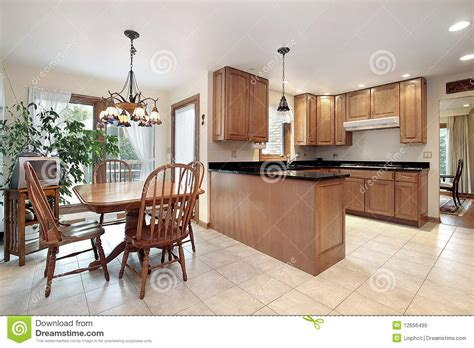kitchen with eating area and island stock photography kitchen with eating area stock image image of dining